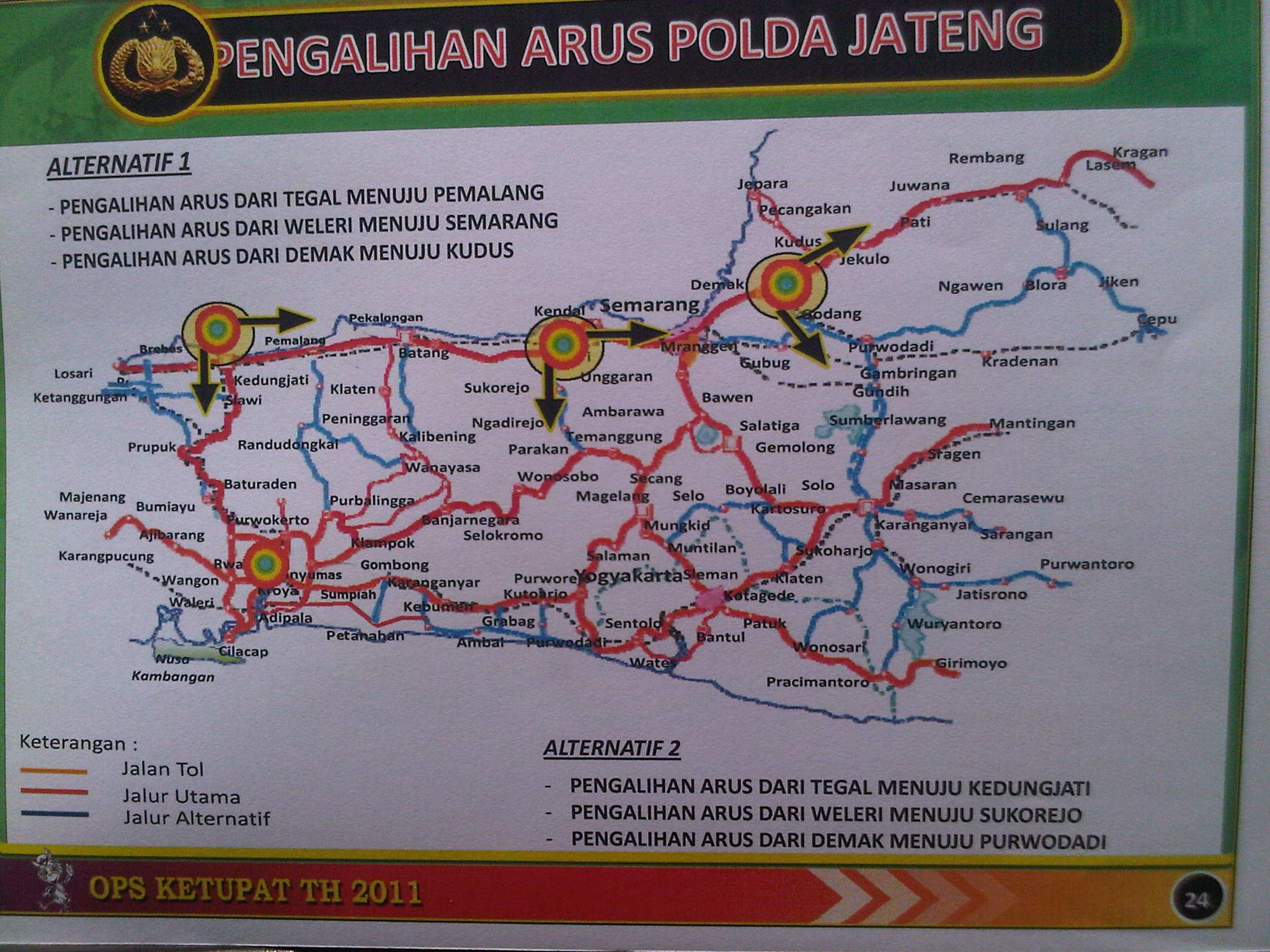 Jalur Alternatif Mudik Lebaran 2012