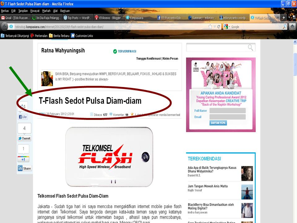 Serammmm�.Telkomsel Flash Sedot Pulsa | Edo Rusyanto's Traffic