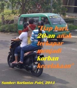 pesan laka anak di motor