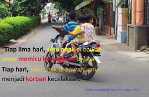 anak bertiga tanpa helm1