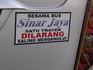 bus peringatan sinar jaya