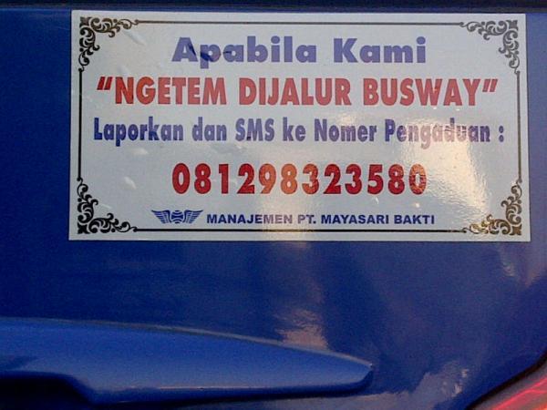 bus aptb soal busway