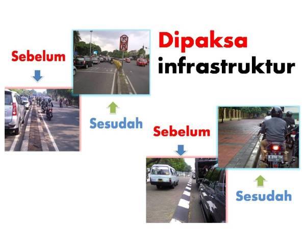 dipaksa infrastruktur