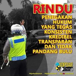poster rindu polisi tegas