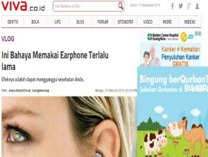 earphone bahaya viva