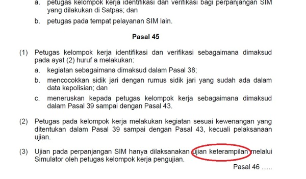 sim perpanjangan aturan perkap 9 12