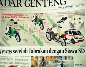 berita kecelakaan koran