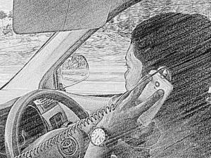 berponsel mengemudi